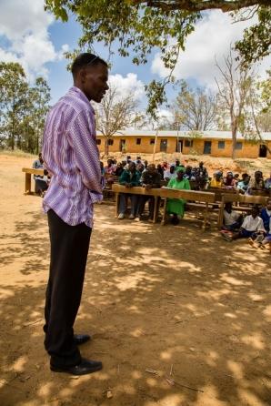 Kilele makes a speech