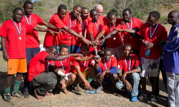 The winning team with their Kileva T-Shirts, Medals & Cup
