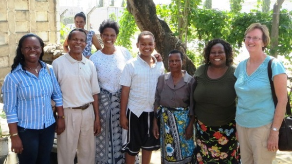 Margaret and family in Mombasa