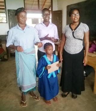 Parent, madam Aggy, Rojoice and new pupil