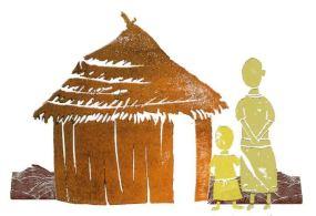 Cal house mum & child