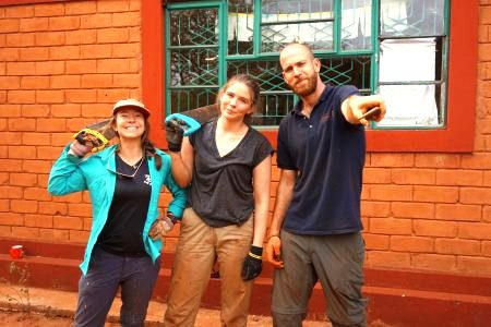 Victoria, Chris and I after a fence post chopping down session